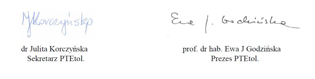 Podpisy PTE